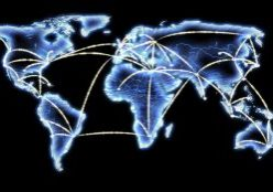 World Map Telecommunications Internet Network